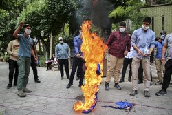 Protests in front of Armenian Embassy in Tehran