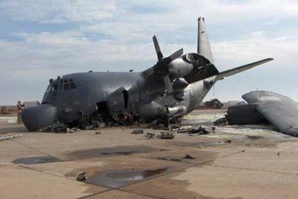"""سقوط طائرة أمريكية بقاعدة """"التاجي"""""""