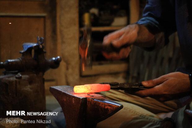 Traditional lock-making workshop in SW Iran