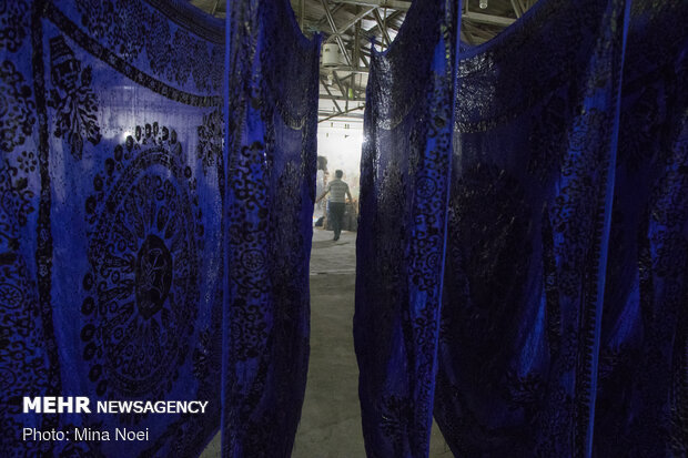 Batik painting in Northwestern Iran