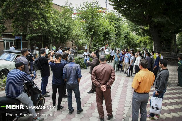 Protests in front of the Armenian Embassy in Tehran