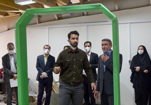 دستگاه ضدعفونی «کرار» در شیراز ساخته شد/۳ ثانیه تا گندزدایی