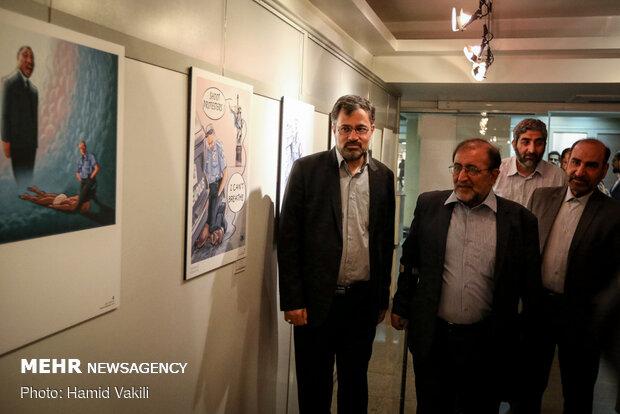 Tahran'da ırkçılık karşıtı karikatür sergisi açıldı