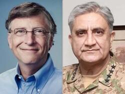 پاکستانی فوج کے سربراہ کی بل گیٹس کے ساتھ ٹیلیفون پر گفتگو