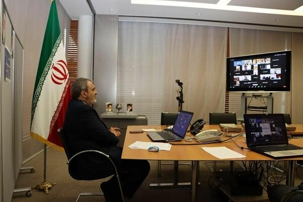 Iranian envoy holds webinar with Iranian students in Japan amid pandemic