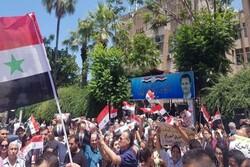 مردم سوریه اقدامات خصمانه آمریکا علیه دمشق را محکوم کردند