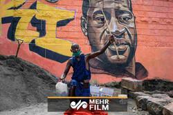 نقاشیهای دیواری در اعتراض به نژادپرستی