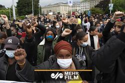 پیرس میں نسل پرستی کے خلاف مظاہرے جاری