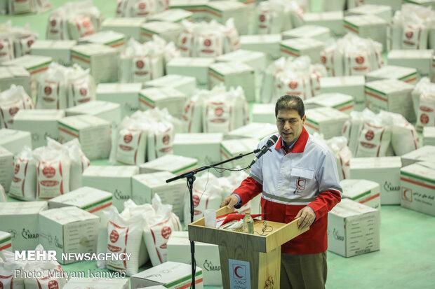 آماده سازی ۲۰۰۰ بسته معیشتی توسط هلال احمر