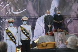Funeral ceremony for veteran Iranian actor Keshavarz