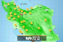 اخطار هواشناسی در خصوص وزش باد شدید در ۱۴ استان