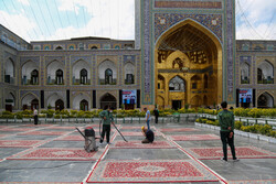 Visiting Imam Reza holy shrine preserving health protocols