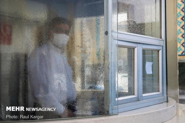 رعایت پروتکل های بهداشتی در حرم مطهر رضوی