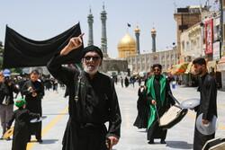 قم میں حضرت امام جعفر صادق کی شہادت کی مناسبت سے عزاداری