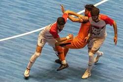 درگیری در فینال برگشت لیگ برتر فوتسال و توقف طولانی مدت بازی