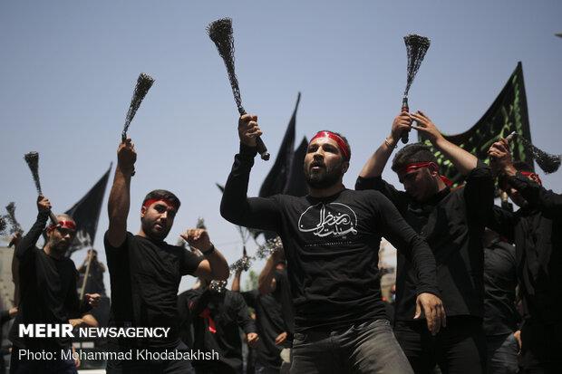 دسته عزاداری شهادت امام صادق(ع) در محله صادقیه تهران