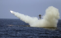 VIDEO: Moment when Iran's new-generation naval cruise missiles hit target