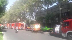 آتش سوزی سینما در بلوار کشاورز/ حادثه مصدوم نداشت