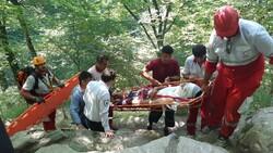 امدادرسانی به فرد سقوط کرده از آبشار «لوه» گالیکش