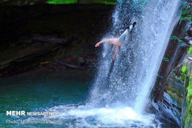 Impressive Zomorrod waterfall in N Iran