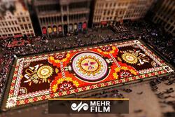 جشنواره فرش گل در بروکسل