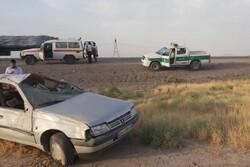 واژگونی پژو ۴۰۵ در محور میامی-سبزوار حادثه آفرید/ یک نفر جان باخت