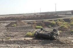 واژگونی یک خودرو در قزوین یک کشته و۵ مجروح برجای گذاشت