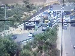 تصادف شدید در بزرگراه یاسینی/یک فوتی و ۲ مصدوم در پی این حادثه