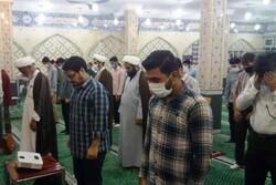 اقامه نماز جماعت در مساجد شهرهای زرد کرونایی خوزستان آغاز شد