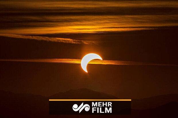VIDEO: Watch partial solar eclipse over Tehran's sky