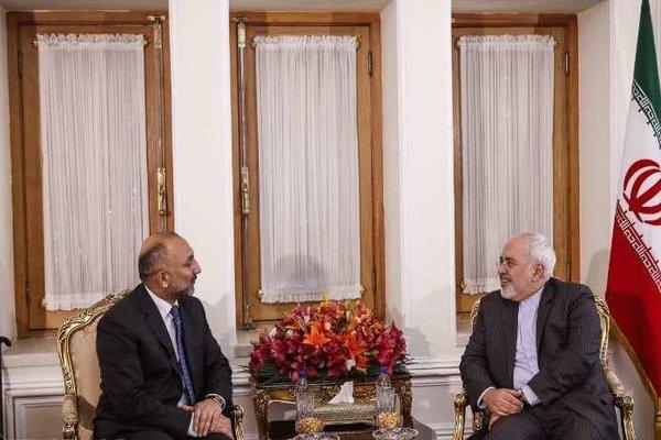 Iran's Zarif, Afghanistan's Atmar hold meeting in Tehran