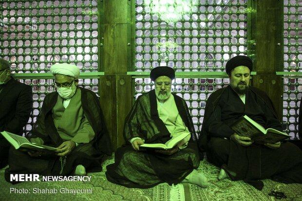 رئيس السلطة القضائية يجدد مثاقه مع مؤسس الثورة الاسلامية