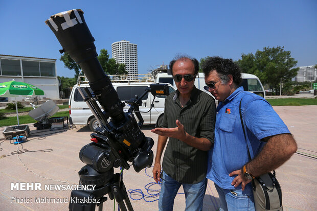 Observing last solar eclipse of century in Iran's provinces