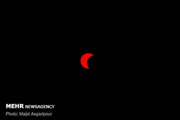 رصد آخرین خورشید گرفتگی قرن در Partial solar eclipse over sky of Iranian capital
