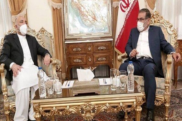 Iran's Shamkhani, Afghanistan's Atmar hold meeting in Tehran