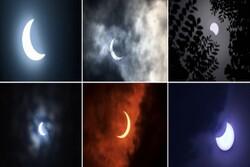 تصاویر خورشید گرفتگی «حلقه آتش» در آسیا و آفریقا