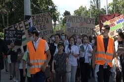"""وقفة إحتجاجية أمام مقر الامم المتحدة في """"جنيف"""" لقرار ضم الضفة"""