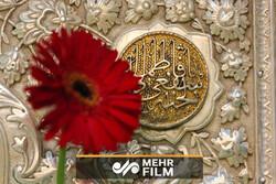 گل آرایی حرم مطهر حضرت فاطمه معصومه(س)