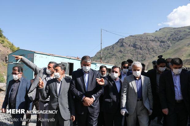 Officials visit Tehran-North highway project