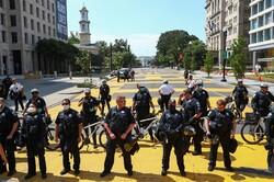 حصار امنیتی پلیس آمریکا در اطراف کاخ سفید