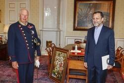 """ملك النرويج: يجب تطوير العلاقات بين """"أوسلو"""" و""""طهران"""""""