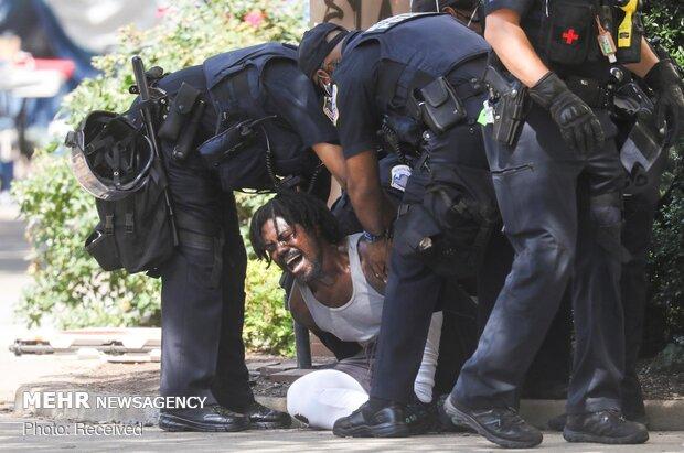 Beyaz Saray'ın önündeki protestolardan fotoğraflar