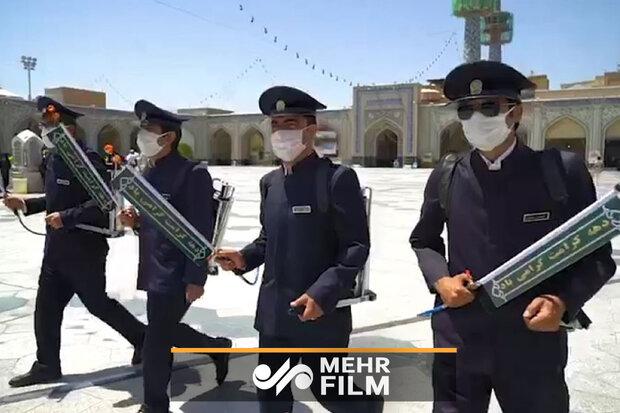 حرم مطہر رضوی میں گلاب چھڑکنے کی تقریب منعقد