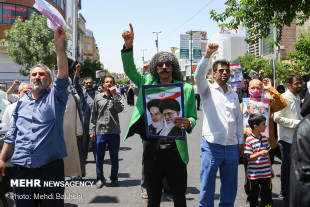 İran'da ABD'deki ırkçı cinayet protesto edildi