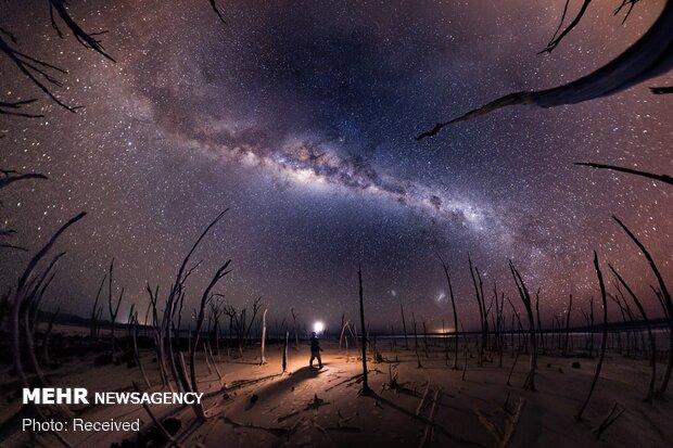 کهکشان راه شیری از نمای زمین
