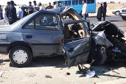 تصادف در محور نورآباد- کرمانشاه یک کشته و ۳ زخمی برجای گذاشت