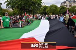 Fransa'da İsrail karşıtı protesto gösterisi