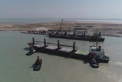 توقیف یک فروند کشتی حامل ۷۰ هزار تن سنگ آهن قاچاق در هرمزگان