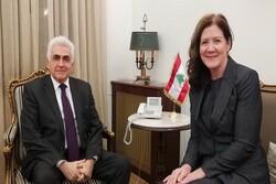 وزير الخارجية اللبناني يلتقي بالسفيرة الأمريكية في بيروت