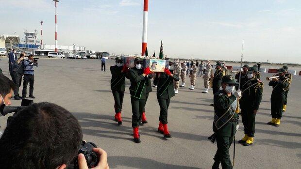 شہید نسیم افغانی کا پیکر پاک مشہد مقدس پہنچ گيا